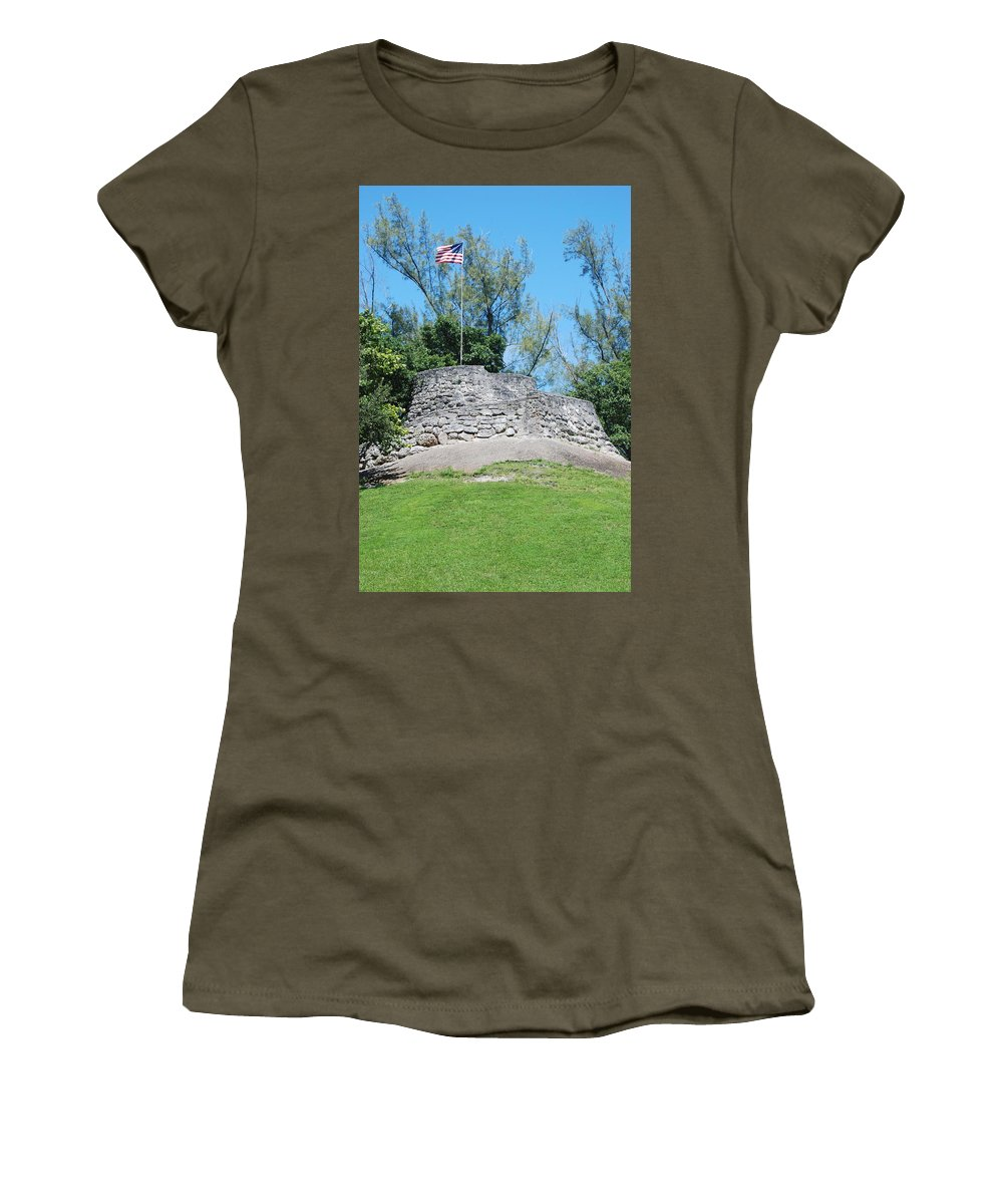 American Flag Women's T-Shirt (Athletic Fit) featuring the photograph The Stand by Rob Hans