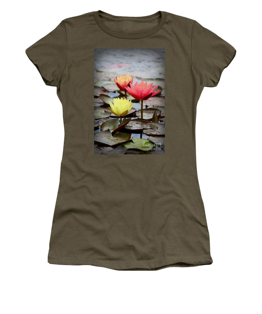 Lily Pad Women's T-Shirt featuring the photograph The Three Of Us by Amy Steeples