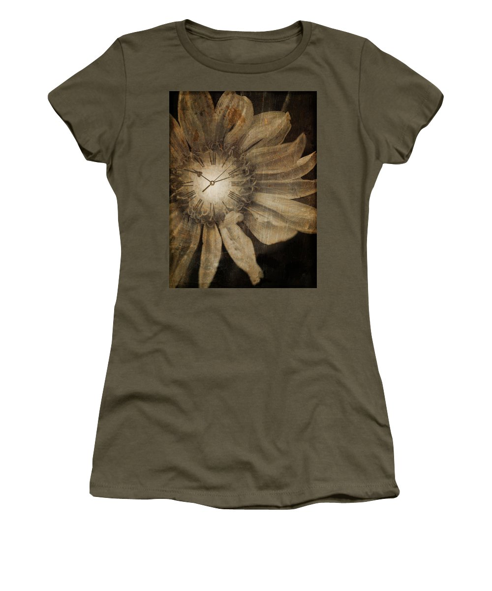 Clock Women's T-Shirt featuring the photograph The Time Keeper by Tara Turner