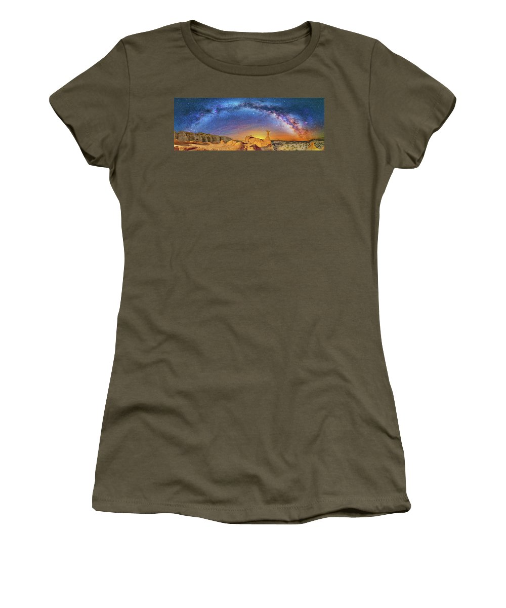 Astronomy Women's T-Shirt (Athletic Fit) featuring the photograph The Toadstool by Ralf Rohner