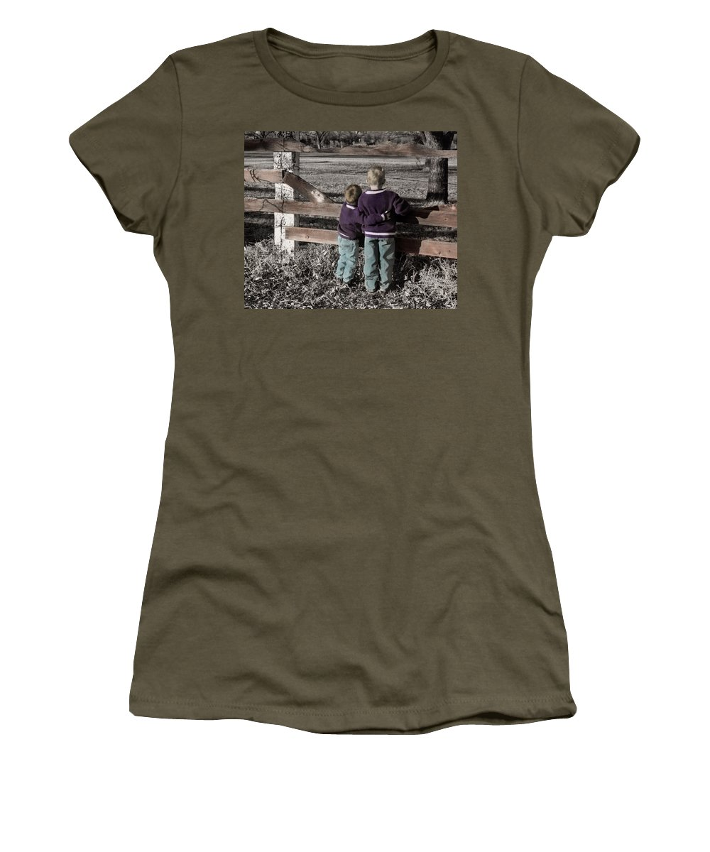 The Twelve Gifts Of Birth Women's T-Shirt (Athletic Fit) featuring the photograph The Twelve Gifts Of Birth - Compassion 1 by Jill Reger