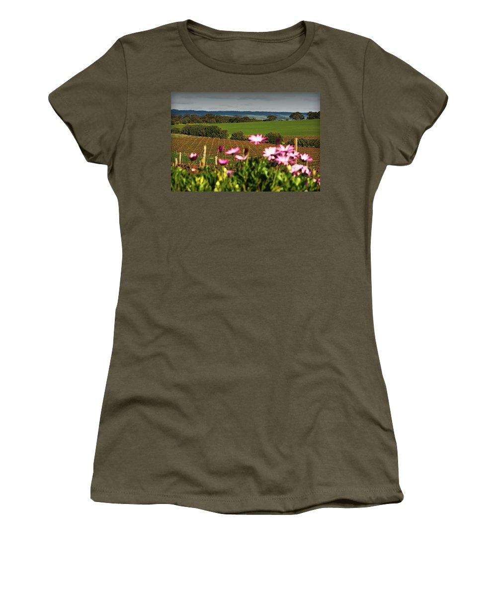 Vineyard Women's T-Shirt featuring the photograph The View Behind by Douglas Barnard