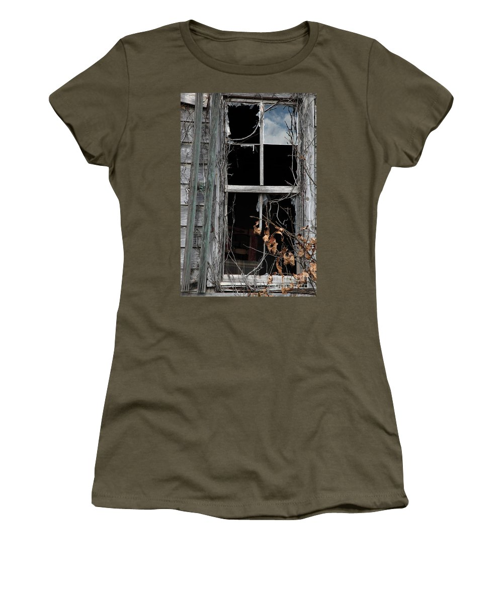Windows Women's T-Shirt featuring the photograph The Window by Amanda Barcon