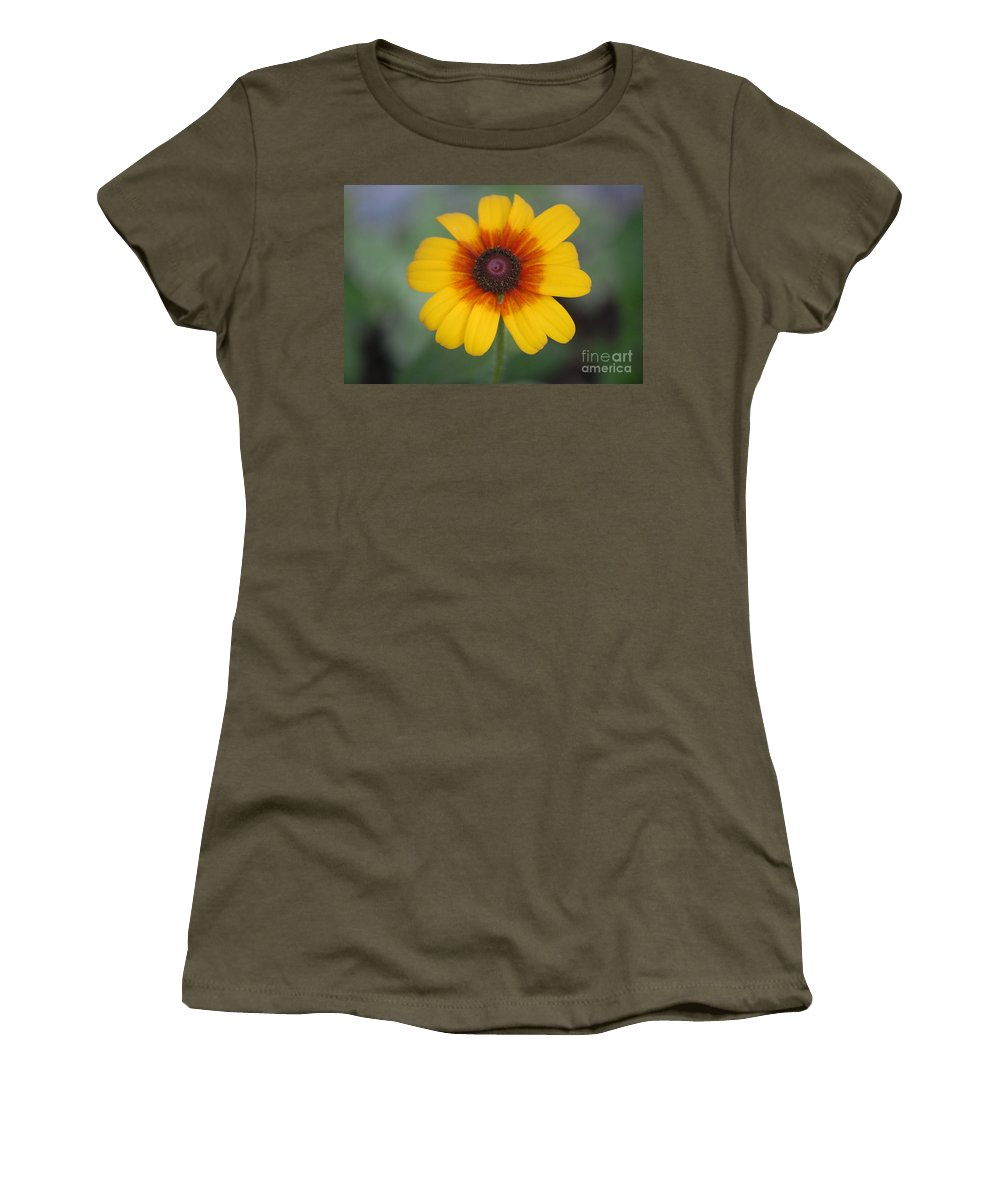 Landscape Women's T-Shirt (Athletic Fit) featuring the photograph They Call Me Mellow Yellow. by David Lane