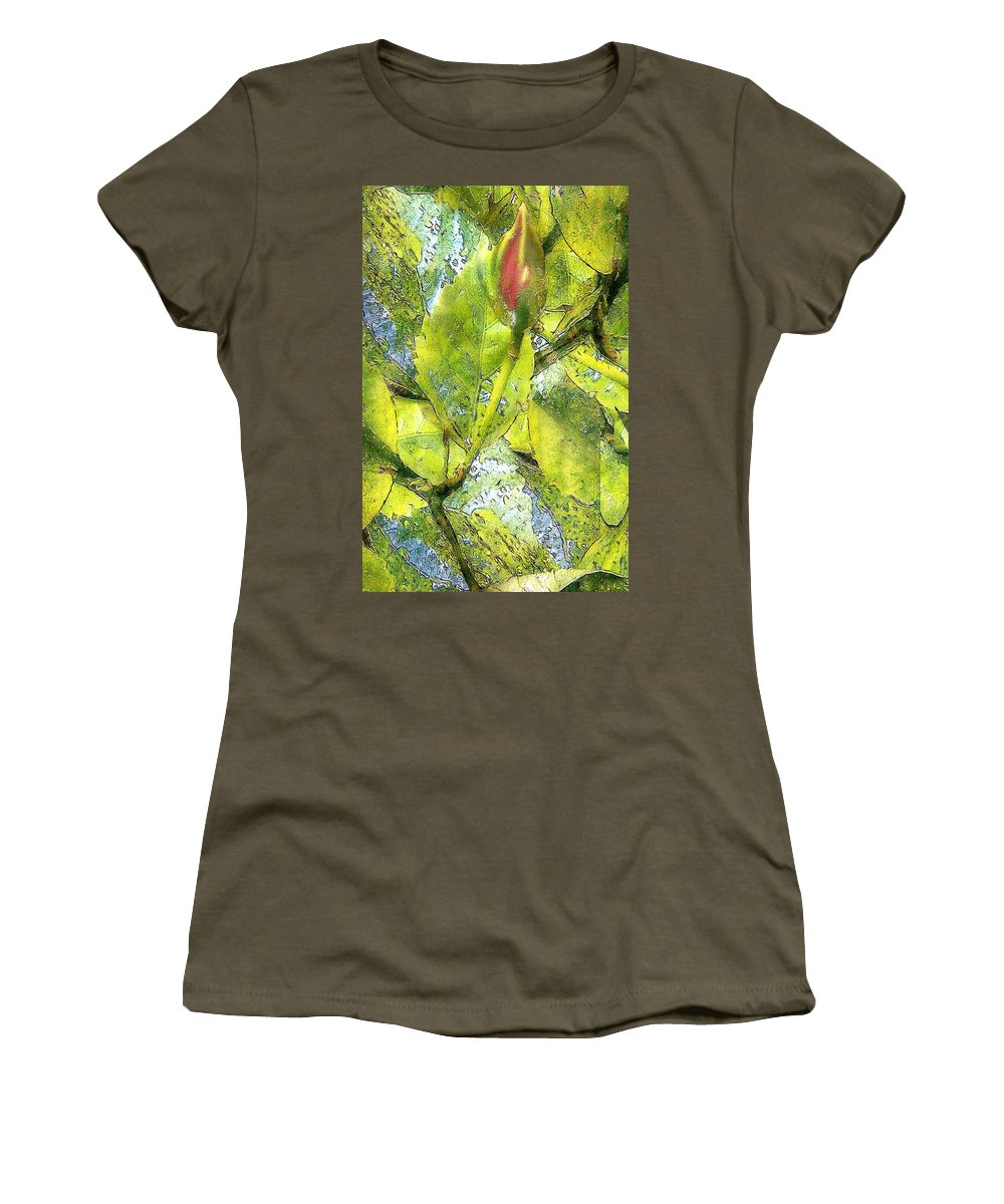 Blues Women's T-Shirt featuring the painting This Bud's For You by RC DeWinter