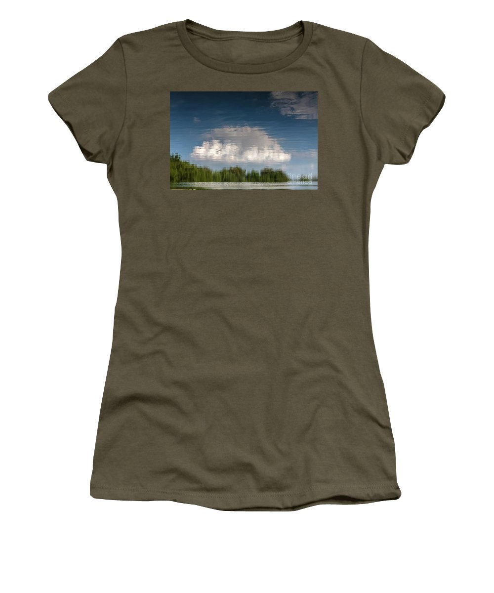 Abstract Women's T-Shirt featuring the photograph Thought by Larry Braun