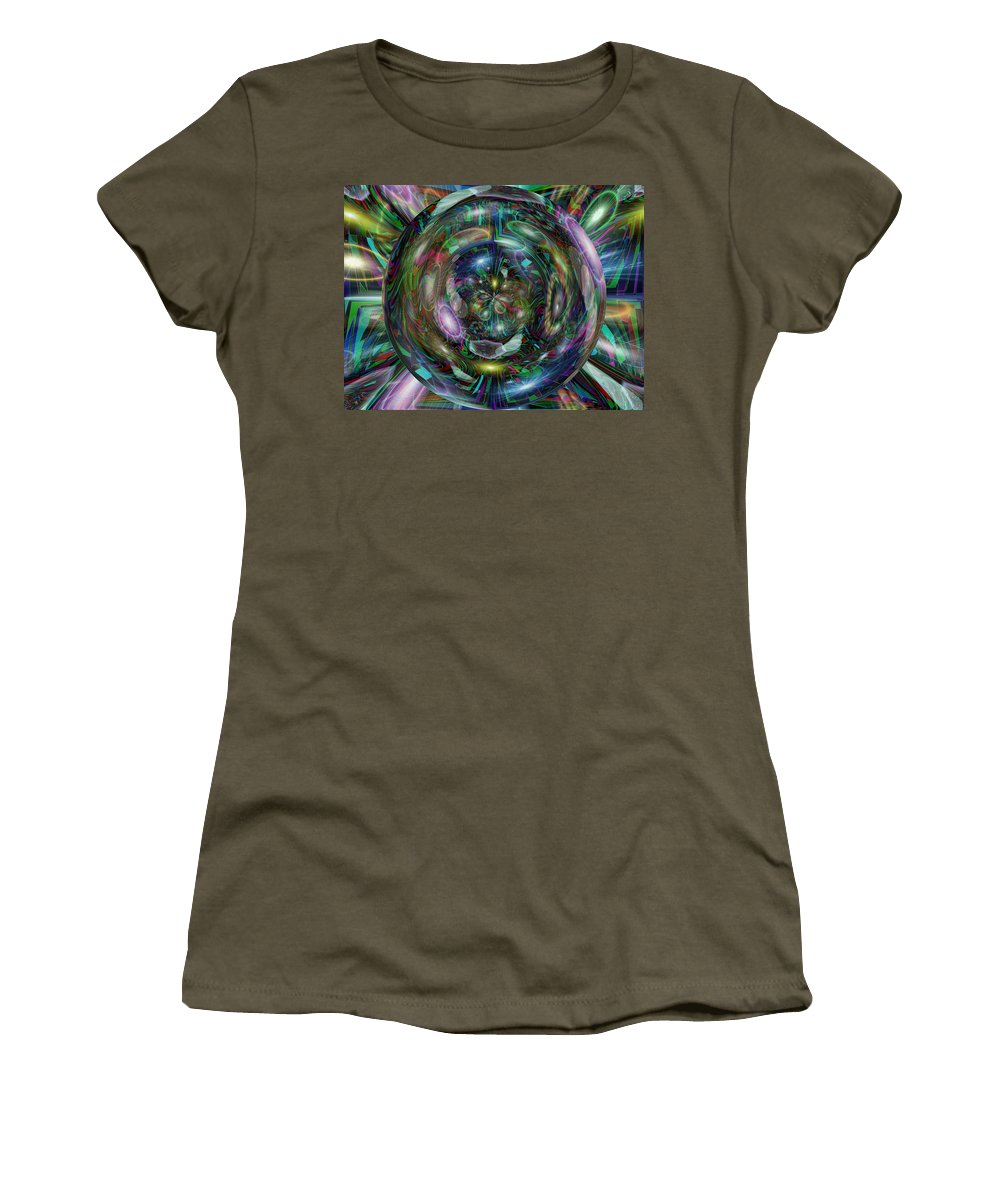 Abstract Women's T-Shirt featuring the digital art Through The Looking Glass by Tim Allen