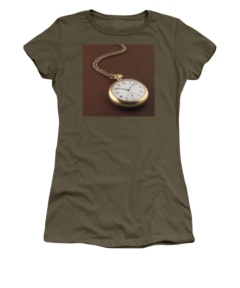 Pocket Watch Women's T-Shirt (Athletic Fit) featuring the photograph Time by Jerry McElroy