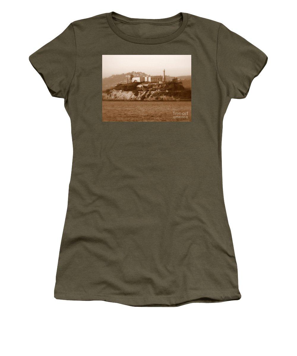 San Francisco Women's T-Shirt featuring the photograph Timeless Alcatraz by Carol Groenen