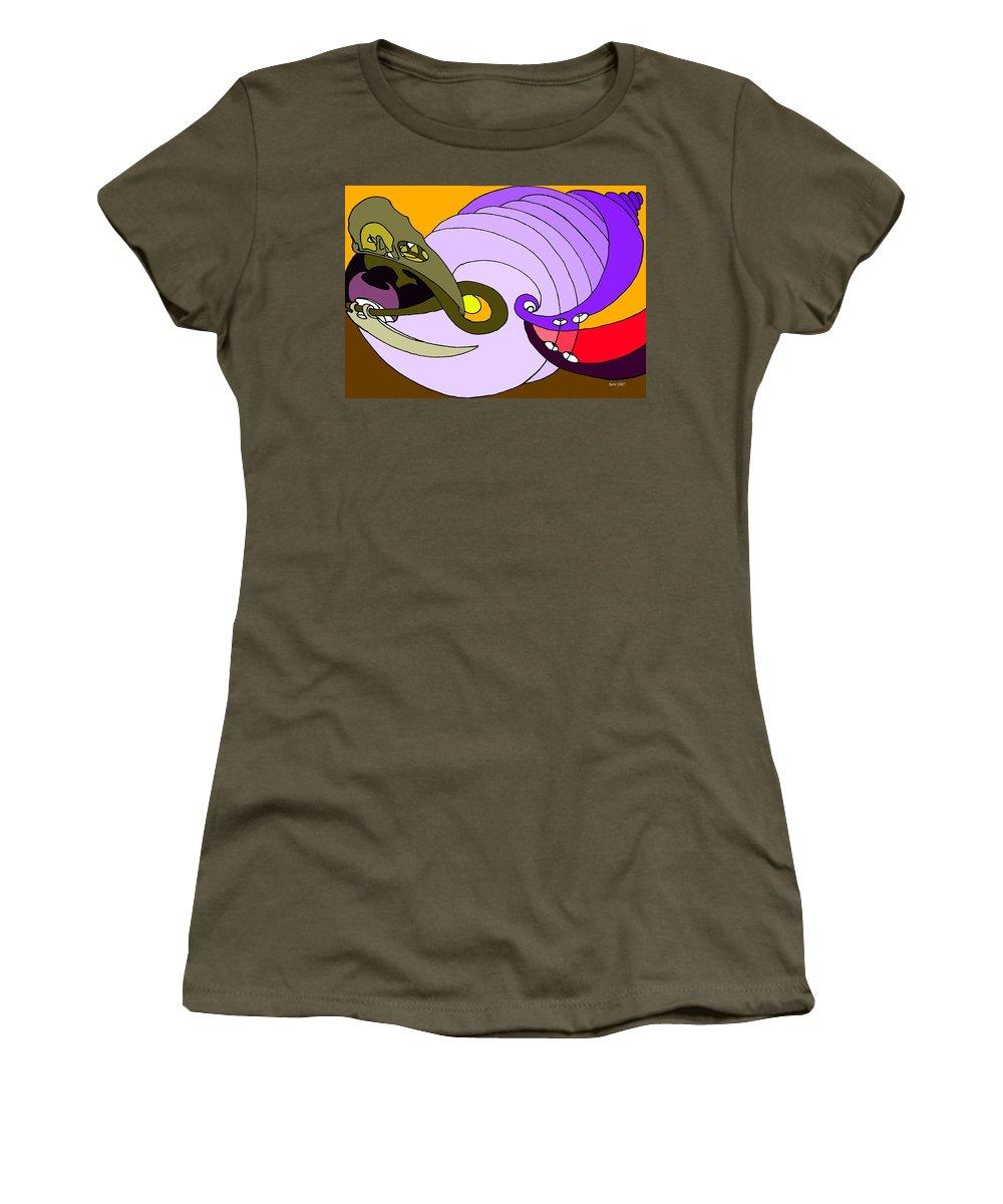 Timespiral Women's T-Shirt featuring the mixed media Timespiral by Helmut Rottler
