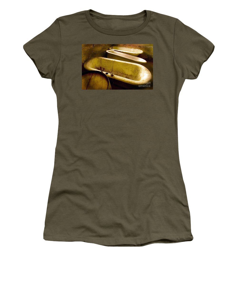 Historic Califortnia Women's T-Shirt featuring the photograph Tired Tubs by Norman Andrus