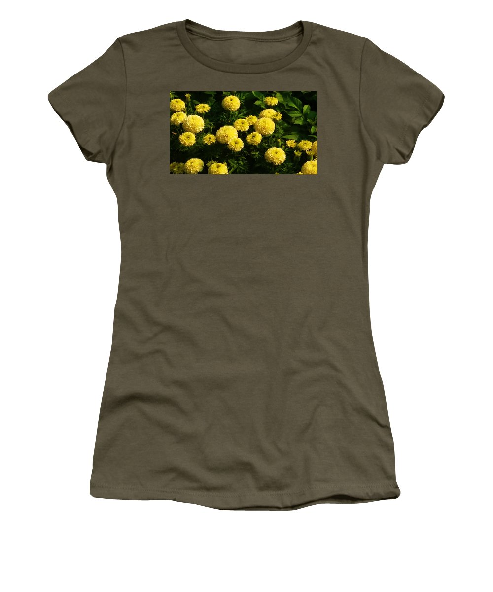 Marigold Women's T-Shirt featuring the photograph Togetherness by Nilu Mishra