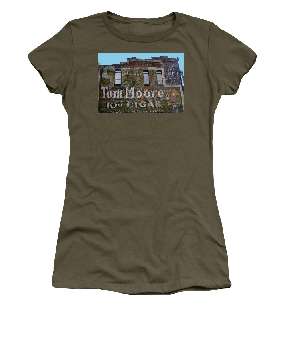 Cigars Women's T-Shirt featuring the photograph Tom Moore Ten Cent Cigar by Anne Cameron Cutri