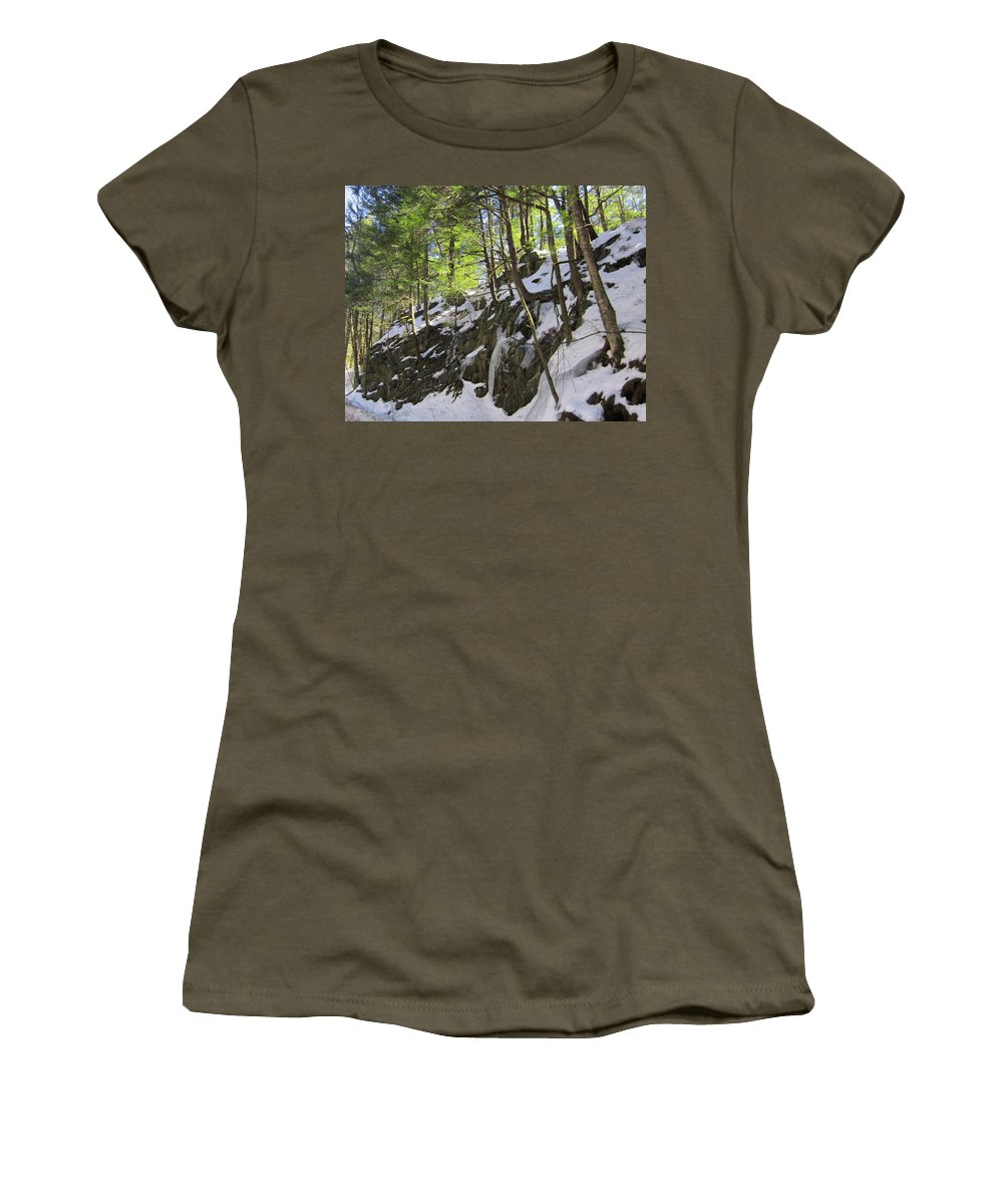 Trees Women's T-Shirt (Athletic Fit) featuring the photograph Tough Trees by MTBobbins Photography