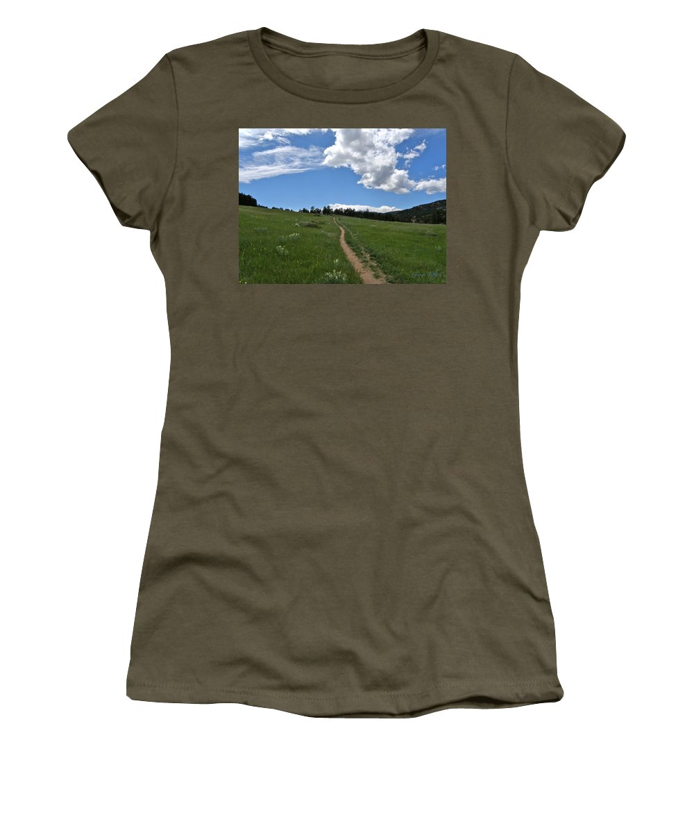 Walk Women's T-Shirt (Athletic Fit) featuring the photograph Towards The Sky by George Tuffy