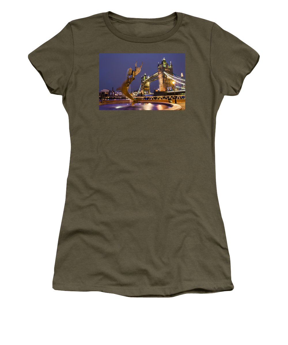 Tower Bridge Women's T-Shirt featuring the photograph Tower Bridge by Alex Lyons