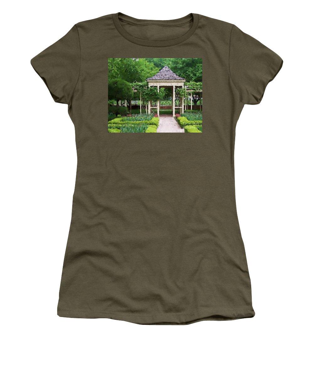 Garden Women's T-Shirt featuring the photograph Tranquil by Debbi Granruth