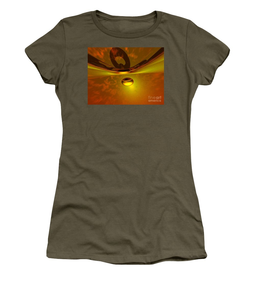 Visionary Women's T-Shirt (Athletic Fit) featuring the digital art Transcending by Oscar Basurto Carbonell