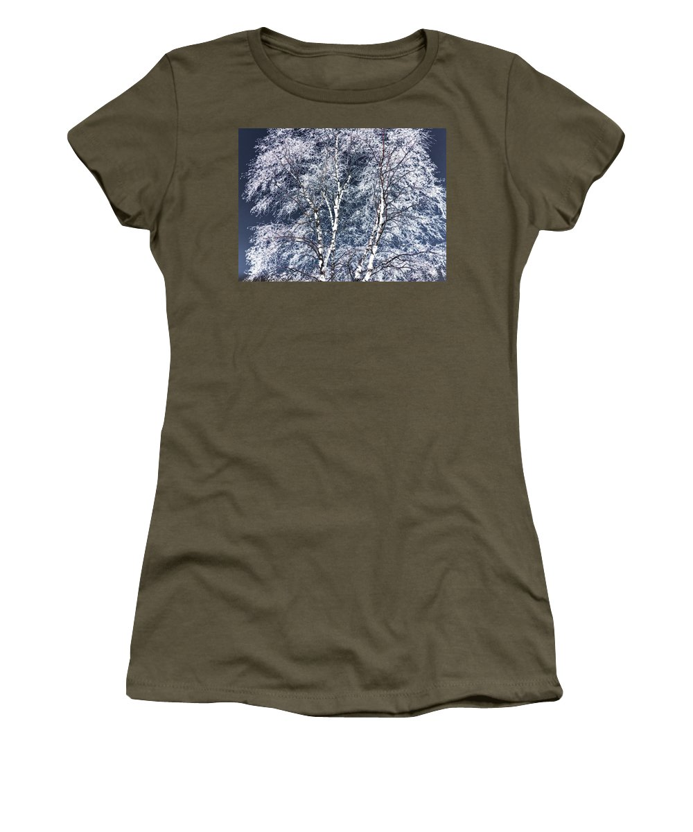 Tree Women's T-Shirt (Athletic Fit) featuring the digital art Tree Fantasy 14 by Lee Santa