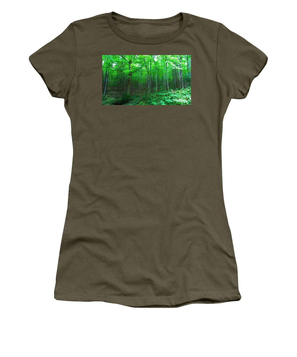 Kerisart Women's T-Shirt featuring the photograph Tree Stand by Keri West
