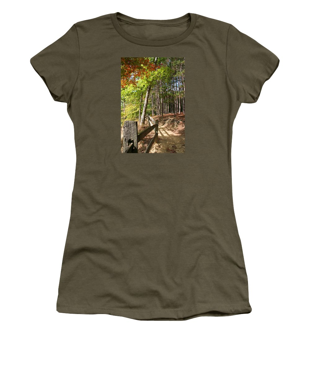 Tree Women's T-Shirt featuring the photograph Tree Trail by Margie Wildblood