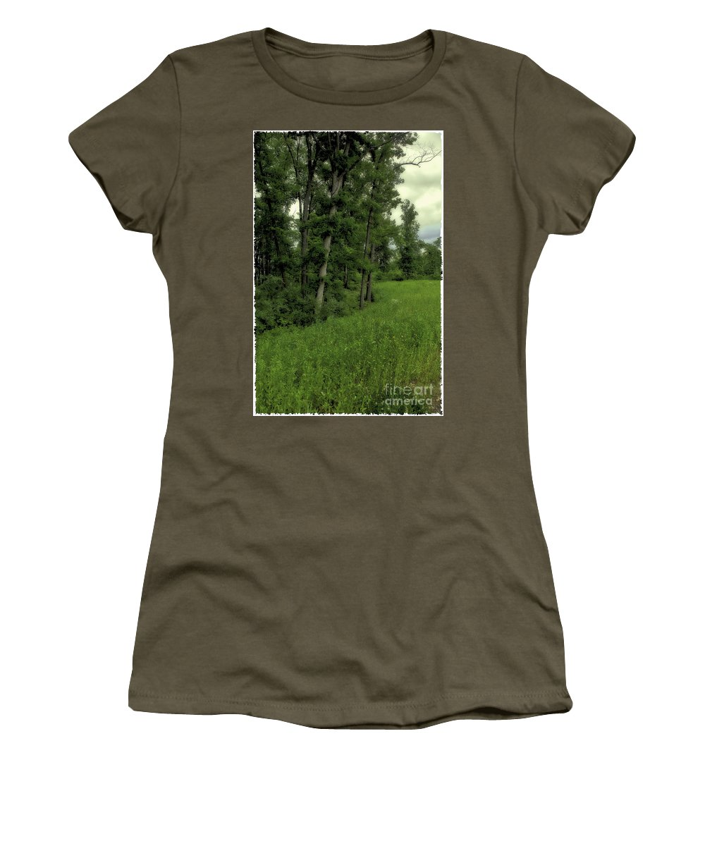 Tree Women's T-Shirt (Athletic Fit) featuring the photograph Trees by Madeline Ellis