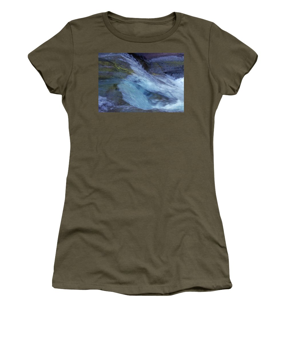 Nature Women's T-Shirt (Athletic Fit) featuring the photograph Tropical Flowing Waters by Kerryn Madsen- Pietsch