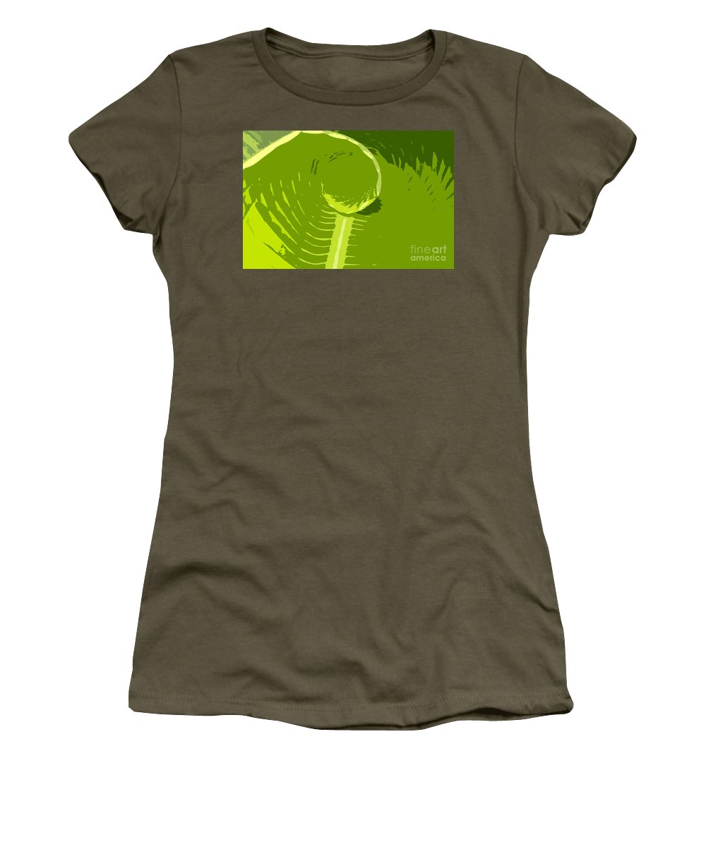 Green Women's T-Shirt (Athletic Fit) featuring the digital art Tropical Green by David Lee Thompson
