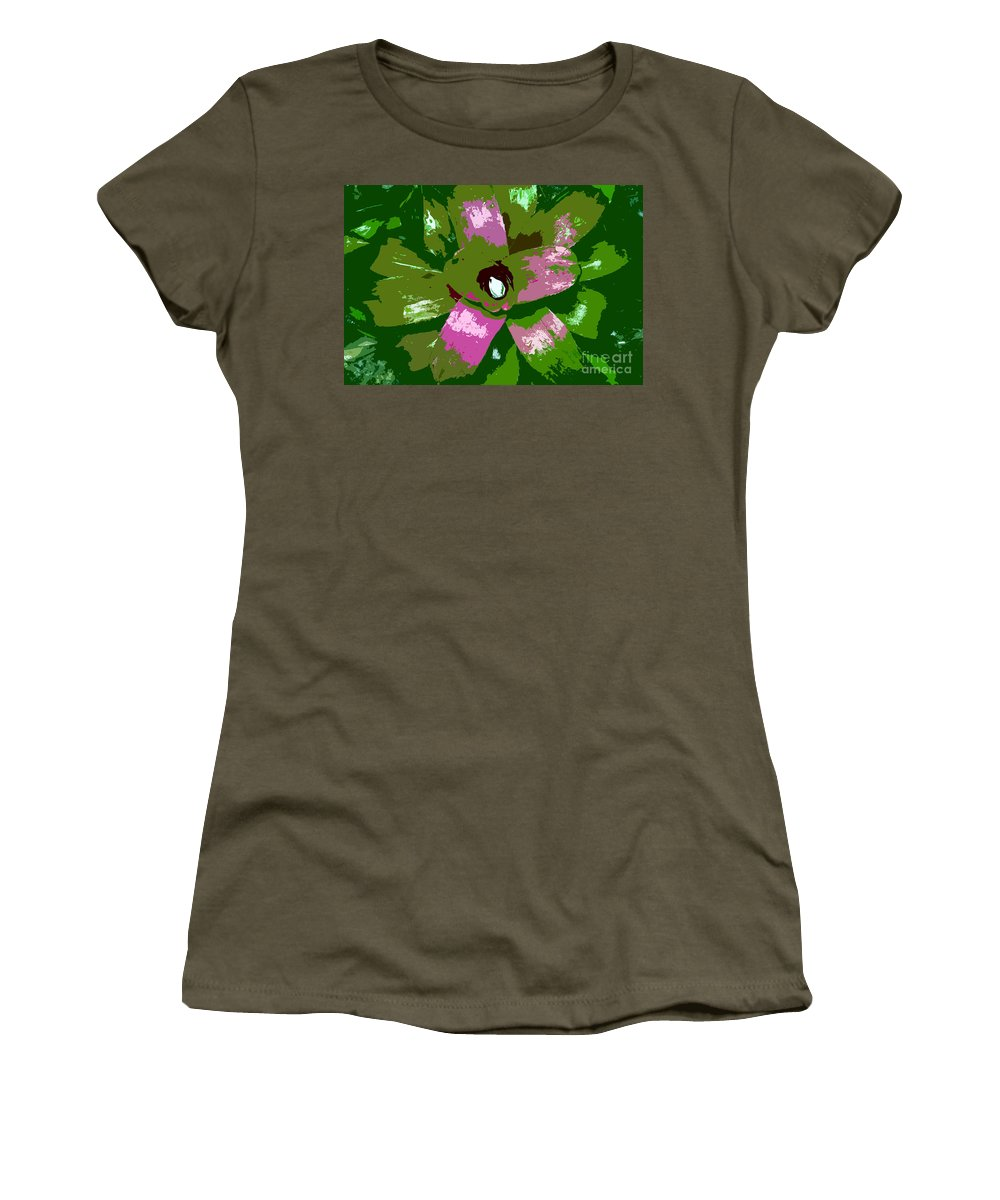Tropical Women's T-Shirt (Athletic Fit) featuring the photograph Tropical Plant Work Number 5 by David Lee Thompson