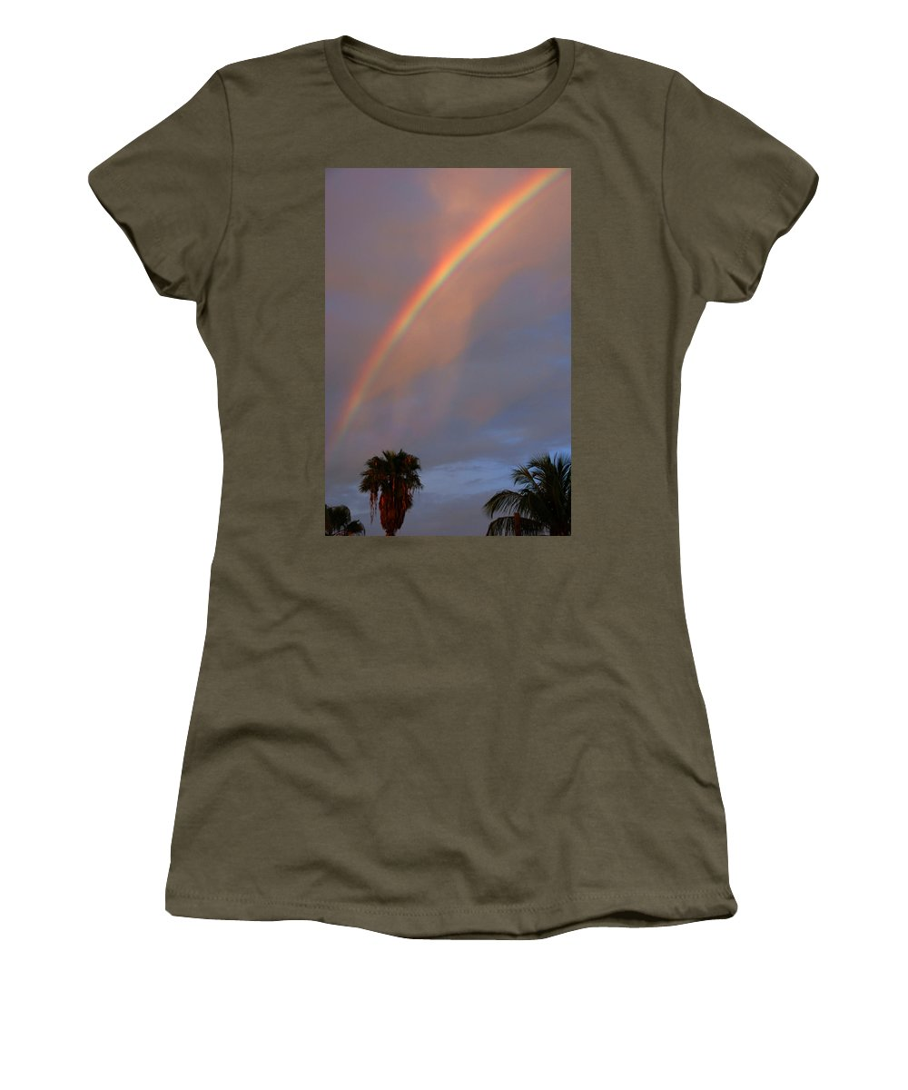 Photography Women's T-Shirt featuring the photograph Tropical Rainbow by Susanne Van Hulst
