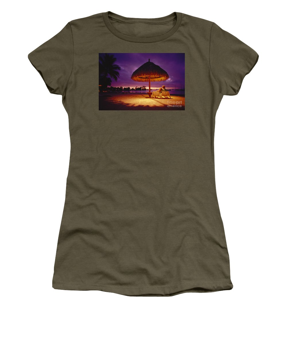 Amaze Women's T-Shirt featuring the photograph Tropical Tahitian View by Ron Dahlquist - Printscapes