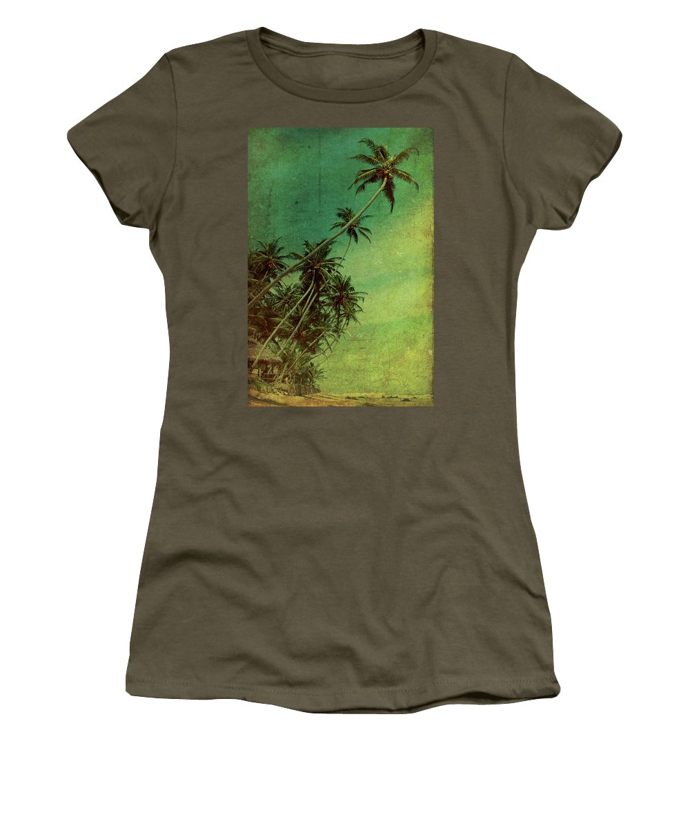 Palm Women's T-Shirt featuring the photograph Tropical Vestige by Andrew Paranavitana