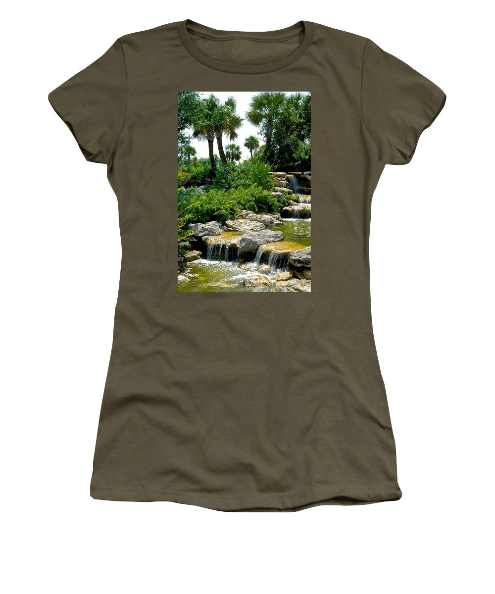 Florida Women's T-Shirt featuring the photograph Tropical Water Falls by Dale Chapel