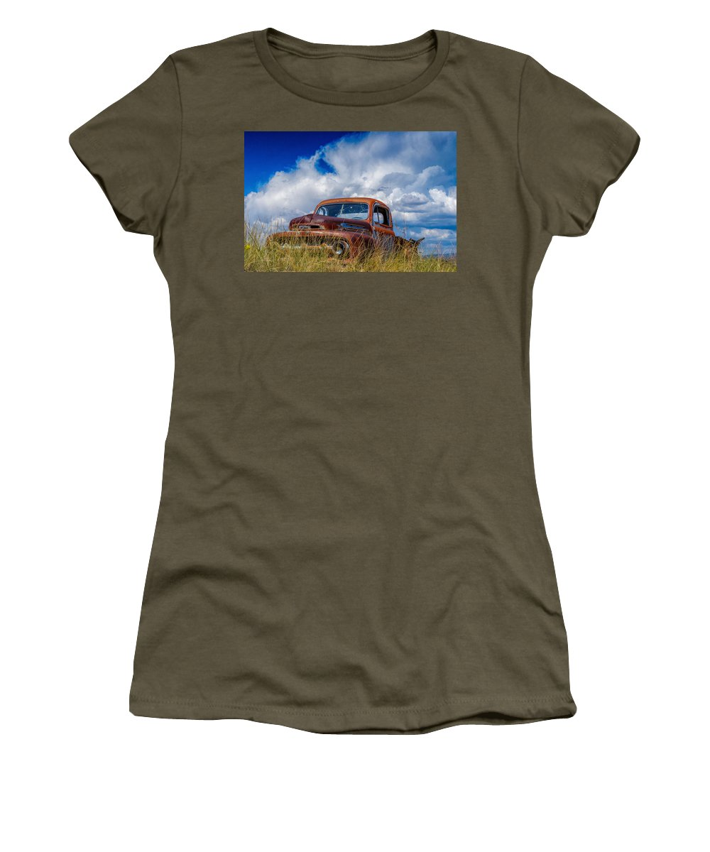 Abandoned Women's T-Shirt featuring the photograph Truck Heaven by Paul LeSage