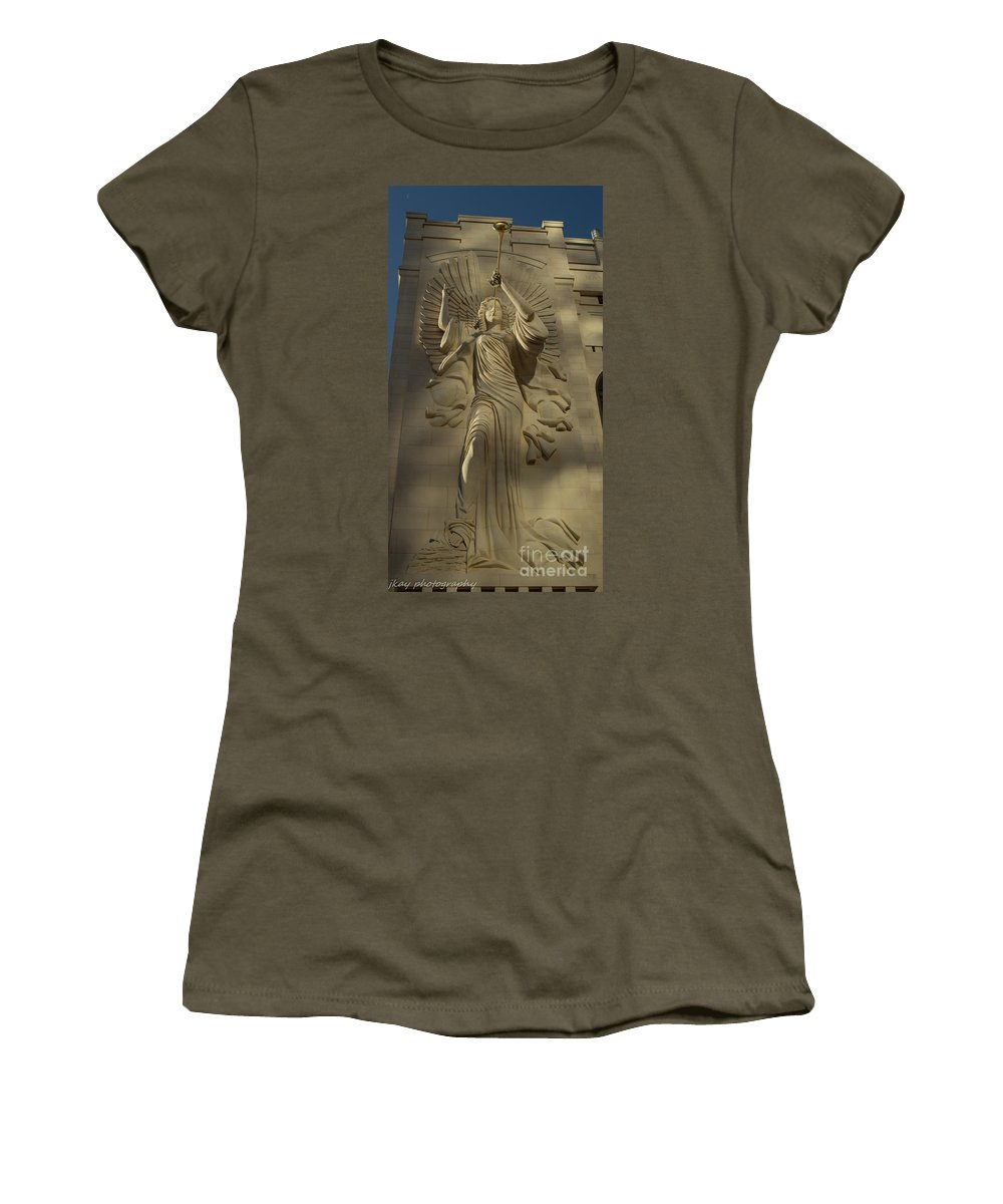 Angel Women's T-Shirt featuring the photograph Trumpet Sunrise by Jennifer Seilhant