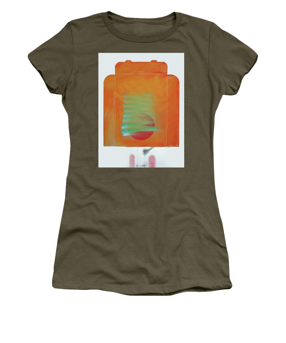 Tsunami Women's T-Shirt (Athletic Fit) featuring the painting Tsunami by Charles Stuart