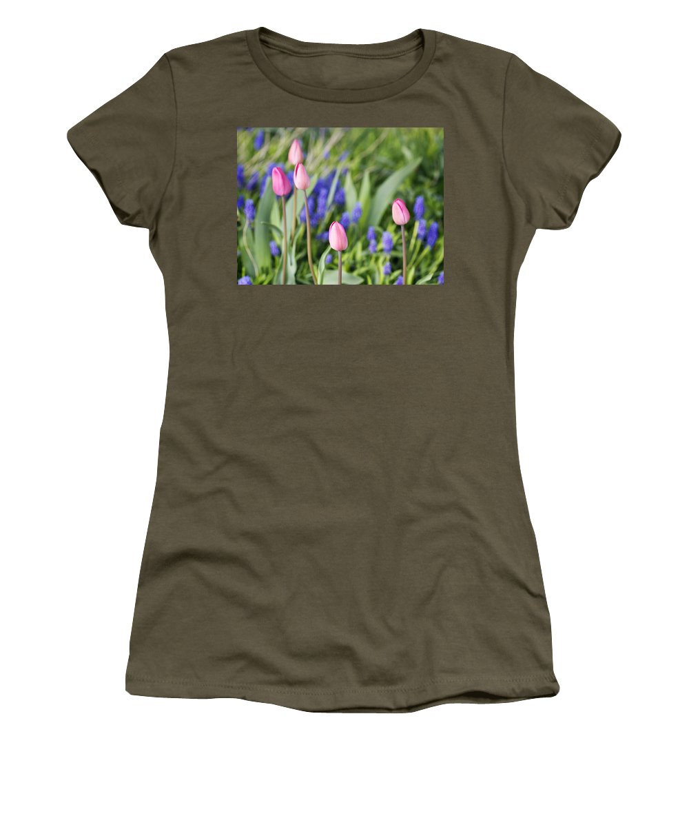 Flower Women's T-Shirt featuring the photograph Tulip Garden by Marilyn Hunt