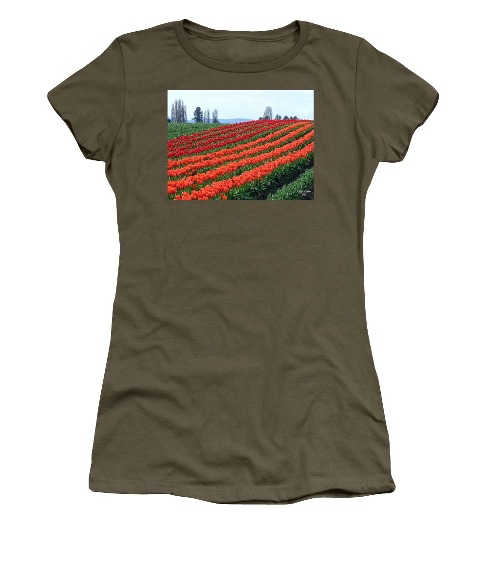 Agriculture Women's T-Shirt (Athletic Fit) featuring the photograph Tulip Town 18 by Will Borden
