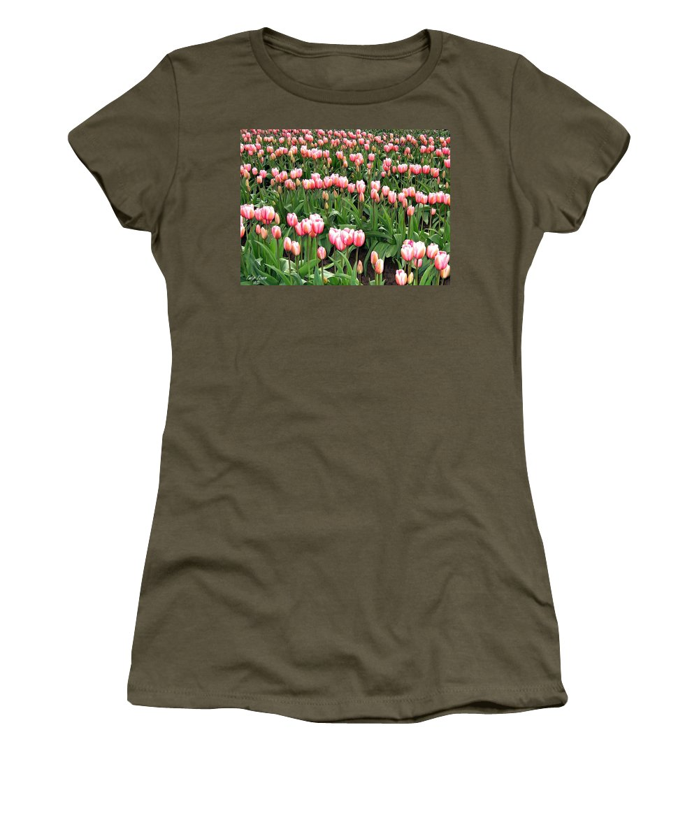 Agriculture Women's T-Shirt featuring the photograph Tulip Town 8 by Will Borden