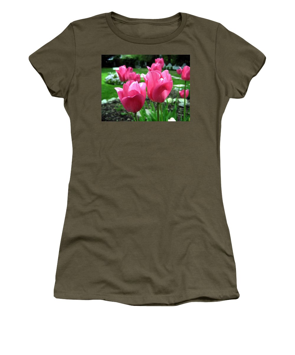Tulips Women's T-Shirt (Athletic Fit) featuring the photograph Tulipfest 3 by Will Borden