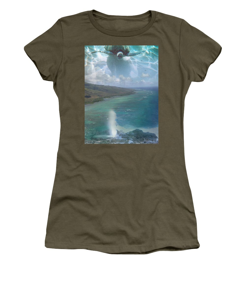 Turtle Women's T-Shirt (Athletic Fit) featuring the photograph Turtle Vision by Angie Hamlin