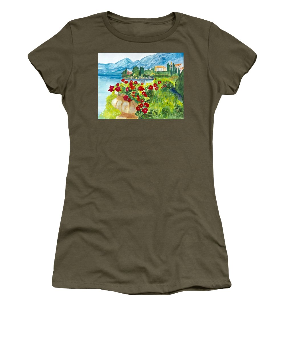 Landscape Women's T-Shirt featuring the painting Tuscany by Denise Mc Nellis