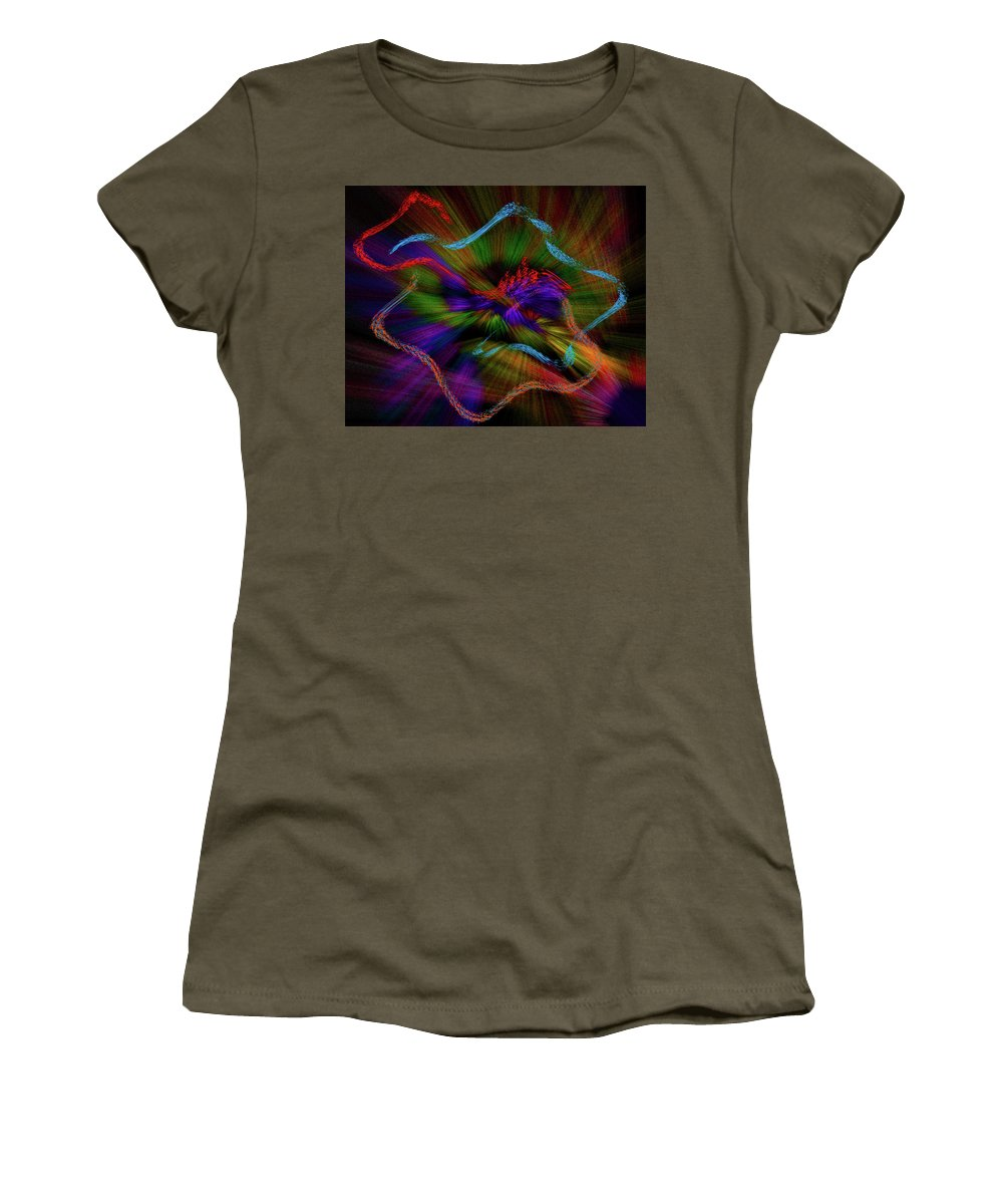 Nr1504170 Women's T-Shirt featuring the digital art tutte le strade portano a Roma by Michael Naegele