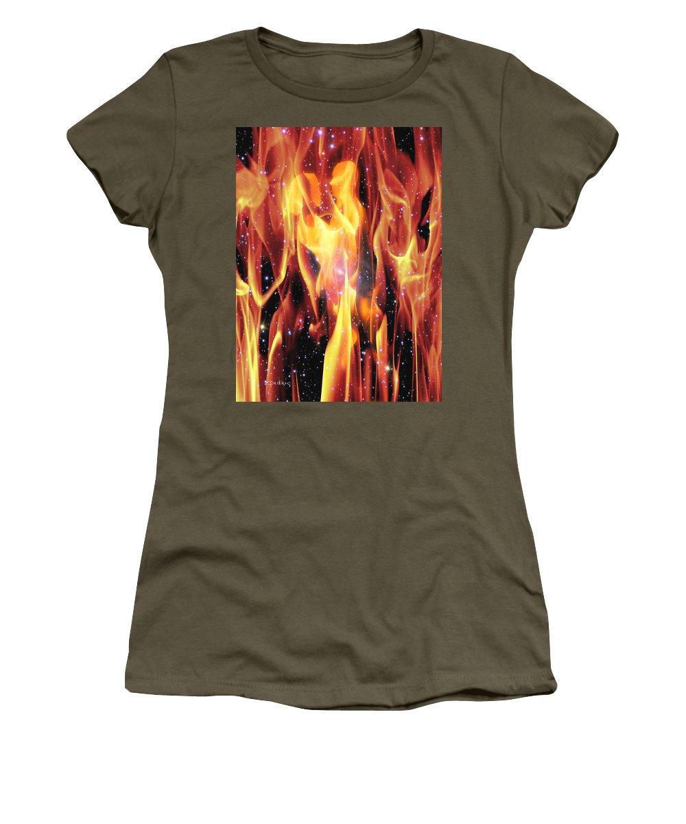 Twin Women's T-Shirt featuring the digital art Twin Flames by Dedric Artlove W