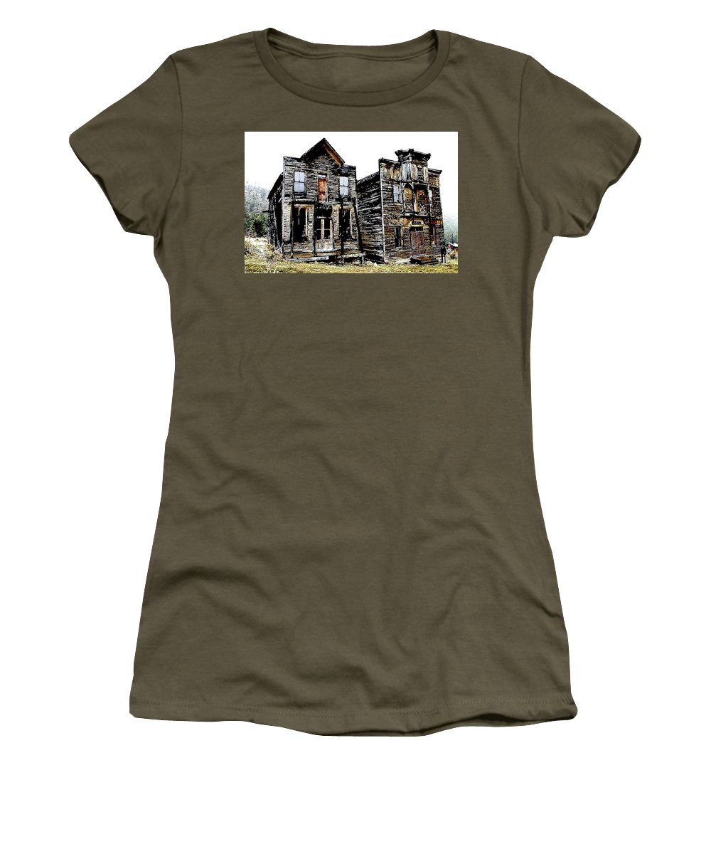 Ghost Town Women's T-Shirt featuring the photograph Two Ghosts by Nelson Strong
