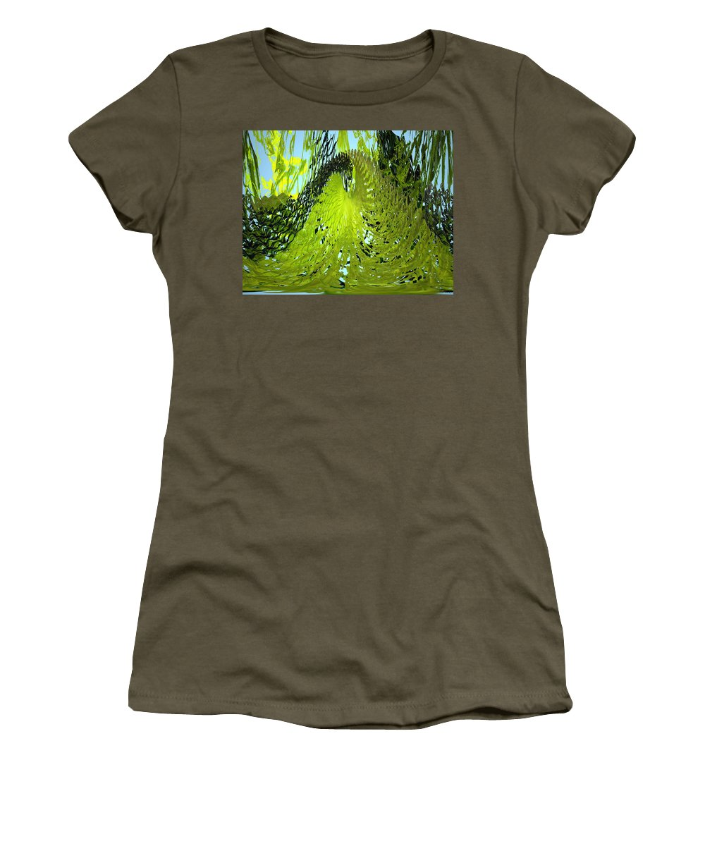 Seaweed Women's T-Shirt featuring the photograph Under Water by Merja Waters