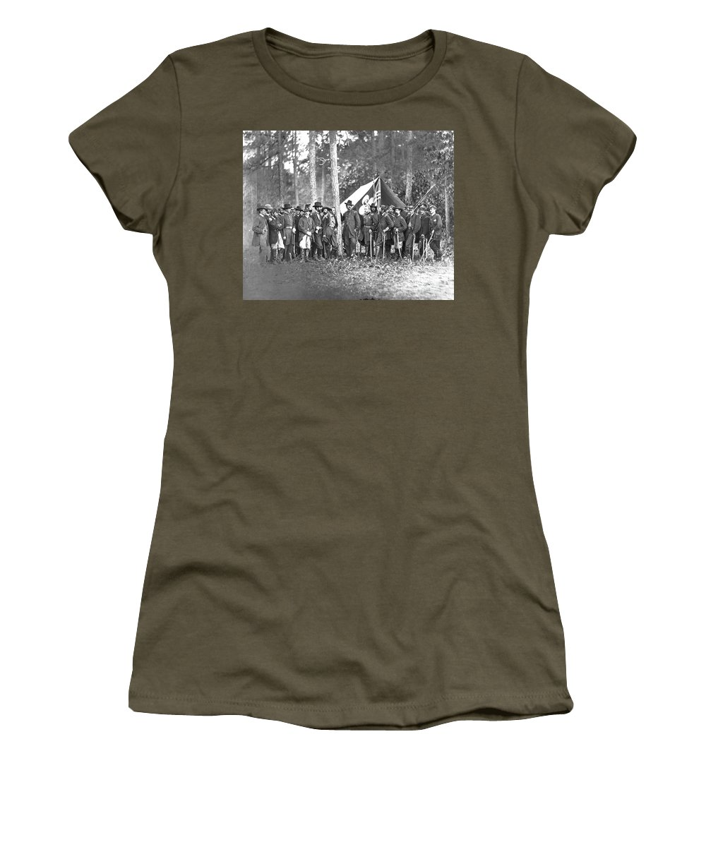 1861 Women's T-Shirt featuring the photograph Union Soldiers by Granger