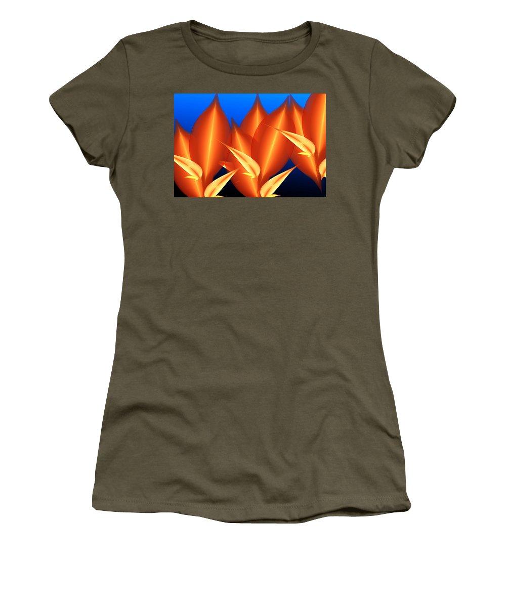 Digital Painting Women's T-Shirt featuring the digital art Untitled 01-15-10-c by David Lane