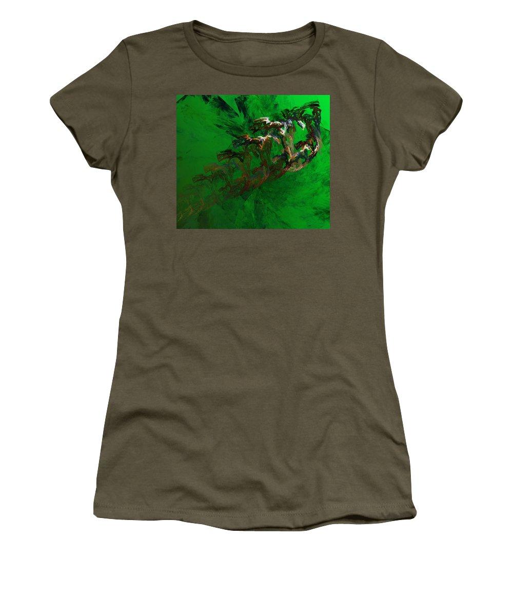 Digital Painting Women's T-Shirt featuring the digital art Untitled 01-15-10 by David Lane