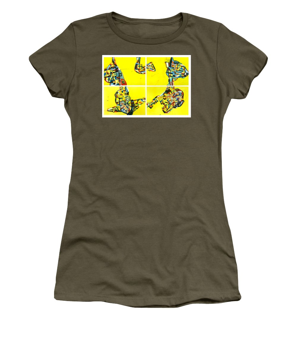 Composition Women's T-Shirt featuring the drawing Untitled-1 by Somesh Soni